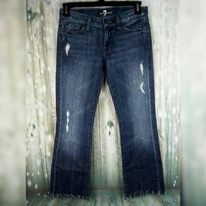 7 for all mankind distressed denim jean